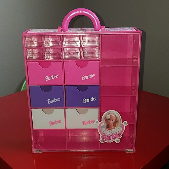 76 off Barbie Accessories Vtg 1993 Wardrobe Carry Case Or Jewelry